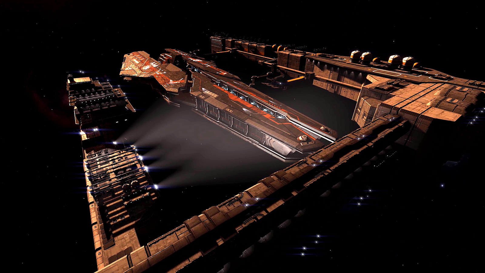 Capital ship space dock